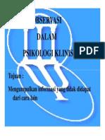 Pkl 142 Slide Observasi Dalam Psikologi Klinis