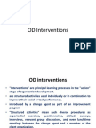 Organisational development intervention