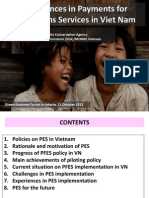 Experiences in Payments for Ecosystems Services in VietNam