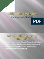 CIRI-CIRI BAHASA