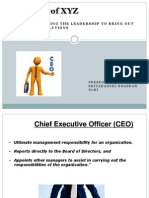 CEO approach to solve the problem