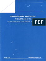 91-PS 1 Reshaping National Water Politic the Emergence of the Water Resources Development Act of 1986