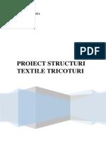Proiect Structuri Textile Tricoturi