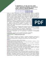 OUG 57-2007-Regimul Ariilor Naturale Protejate