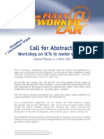Call for Abstracts - Fully Networked Car 2010