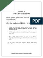 Format of Proj. Report