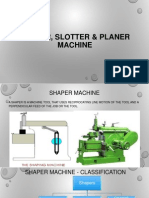 Difference between shaper and planer machines.