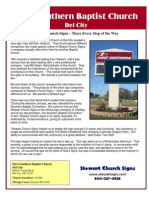 Stewart Church Signs – There Every Step of the Way - First Southern Baptist Church
