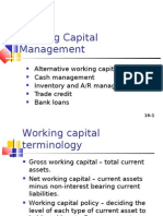 Working Capital  Mangement