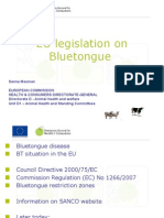 Ms. Sanna MESMAN - EU Legislation on Bluetongue Regarding Control Measures