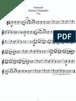 Hullmandel - Menuet Champetre (Flute)