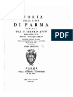 Storia della città di Parma scritta dal P. Irenio Affò; tomo SECONDO, 1743