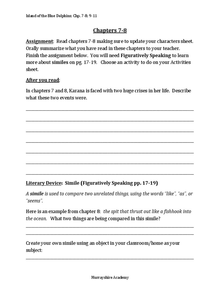 Worksheet Island Of The Blue Dolphins Worksheets Worksheet Fun