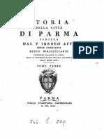 Storia della città di Parma scritta dal P. Irenio Affò; tomo TERZO, 1743