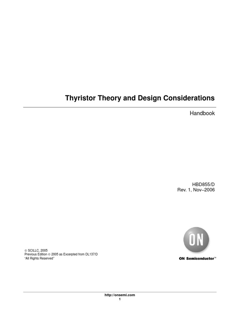 Thyristor Theory And Design Considerations Field Effect Transistor Diac Triac Phase Power Control Without Hysteresis Electric Current