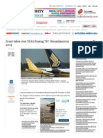 Scoot Takes Over SIA's Boeing 787 Dreamliners in 2014