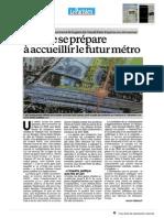 la ville se prépare à accueillir la future station grand paris
