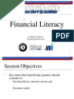 AmeriCorps CNCS Financial Literacy Presentation Start Up