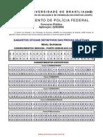 Gabarito Agt Adm Policia Federal - 2004