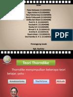 87989729 Teori Thorndike Dengan Pembelajaran Individual