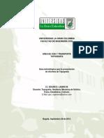 Guia Presentacion de Informes de Topografia UGC 2013