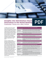Insights Into Distribution Channel Innovation in the Retail Banking Sector