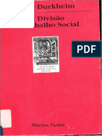 DURKHEIM, Émile. Da divisão social do trabalho. Martins Fontes