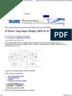 Power Amp Super Bridge 120W by IC TDA2030 _ Eleccircuit