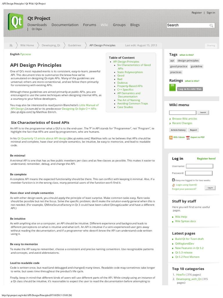 API Design Principles - Qt Wiki   Inheritance (Object