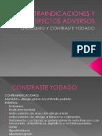 Contraindicaciones y Efectos Adversos del gd