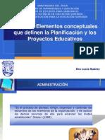 Elementos conceptuales planificación y proyectos educativos