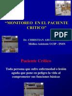 Monitoreo Paciente Critico