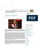 ¿Es Presidente o presidente_ - Castellano Actual _ Blogs _ Peru21