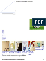 Pintura de Tela Criativa Usando Garrafa PET _ Revista Artesanato