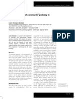 Challenges of Community Policing in Nigeria