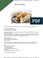 Pão de Batata com Recheio de Frango
