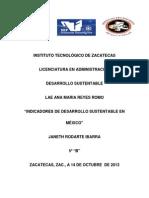 Indicadores de Desarrollo Sustentable en México