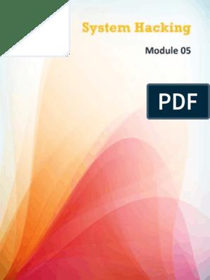 CEHv8 Module 05 System Hacking  pdf   Password   Key