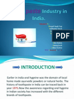 Toothpaste Industry in India.