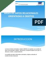 Bases de Datos Relacionales Orientadas a Objetos