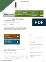 AJAX File Upload jQuery Tutorial
