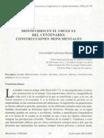 Antúnez, Rocío - Montevideo en el Uruguay del centenario, construcciones monumentales