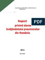 Raport Privind Starea Inv Preuniversitar