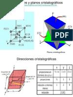 Direcciones y planos cristalográficos
