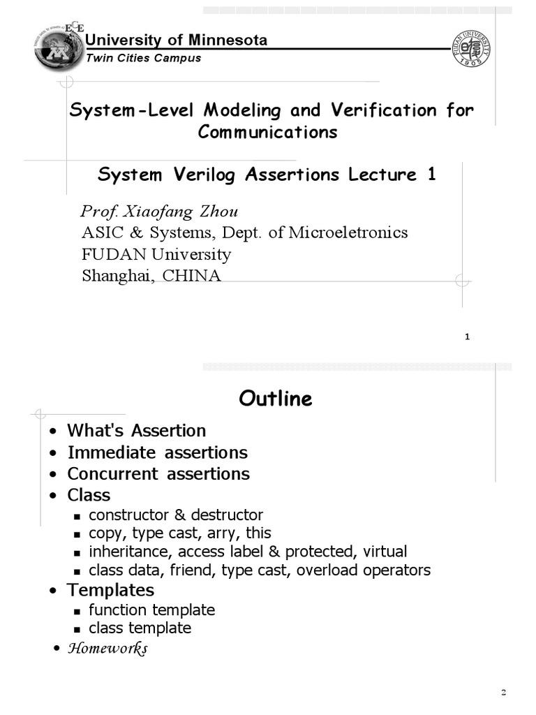 15_SVAssertionsLecture1 | Computer Programming | Software Engineering