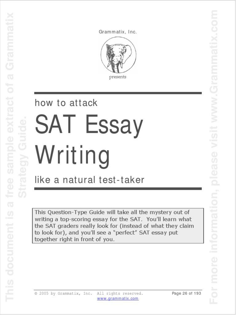 Sat essay subscore