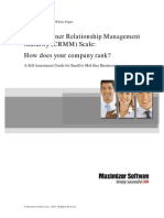 CRM Management Maturity Scale