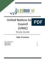 LGSMUN VI UNSC Study Guide