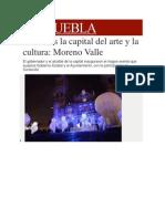 16-11-2013 Milenio.com - Puebla Es La Capital Del Arte y La Cultura, Moreno Valle