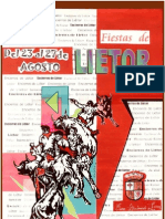 Programa de Fiestas 2009 (Liétor, Albacete, Spain)